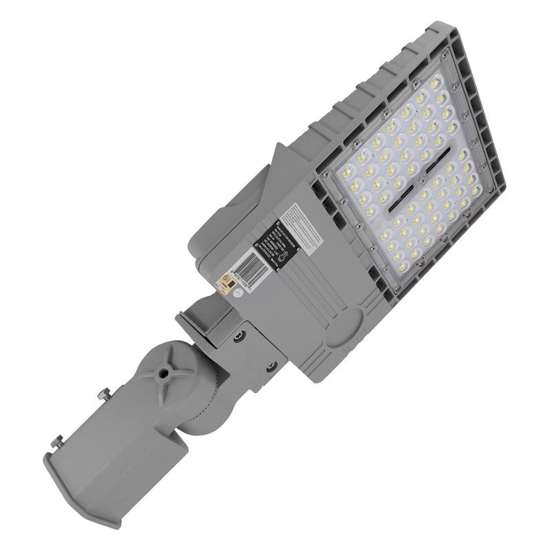 LED Area Light | 150 Watt | 21580 Lumens | 5000K | Slip Fitter Mount | Grey Housing | UL & DLC Listed | 5 Years Warranty | Led Parking Lot Light | Led Street Light