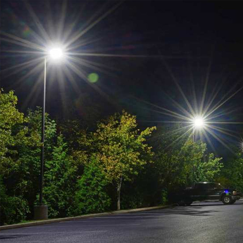 LED Area Light | 300Watt | 39600 Lumens | 5000k | Straight Arm Mount |  Black Housing | i9 Series | Led Parking Lot Light | Led Street Light