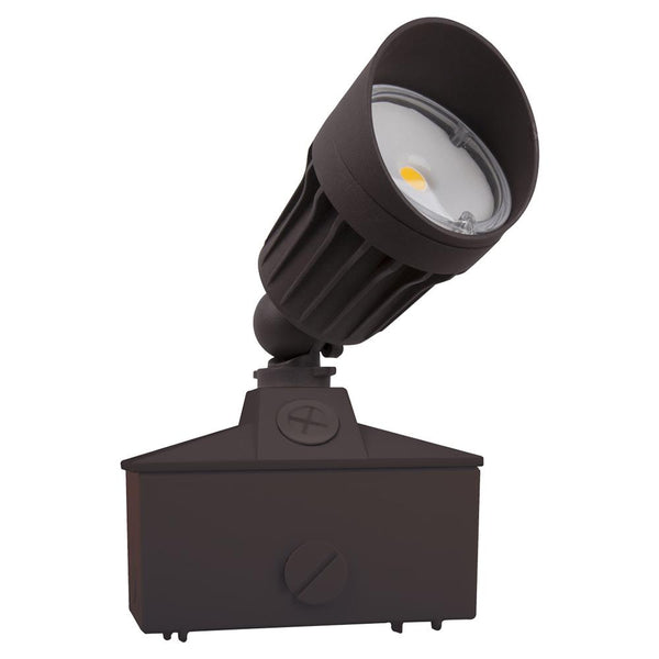 LED Landscaping Light | 10Watt | 1000Lm | 3000K | Lawn Base Mount | Brown housing | Boise Series| Pack of 4