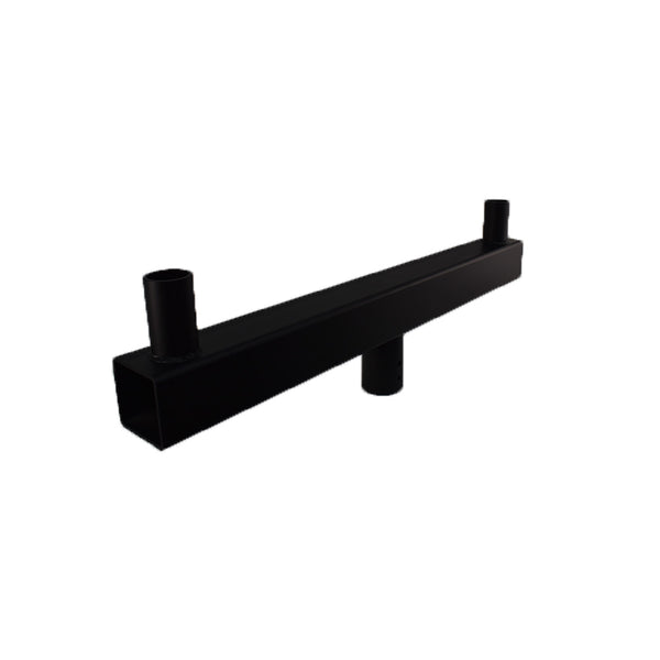 Low Profile Round Bullhorn Bracket with 2 Tenons Inline | 2-3/8 | Black