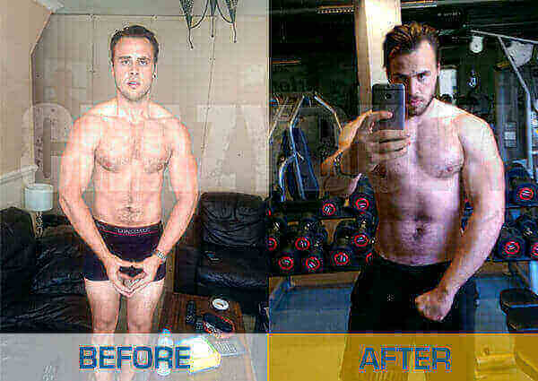 Crazy Bulk bulking stack before and after results