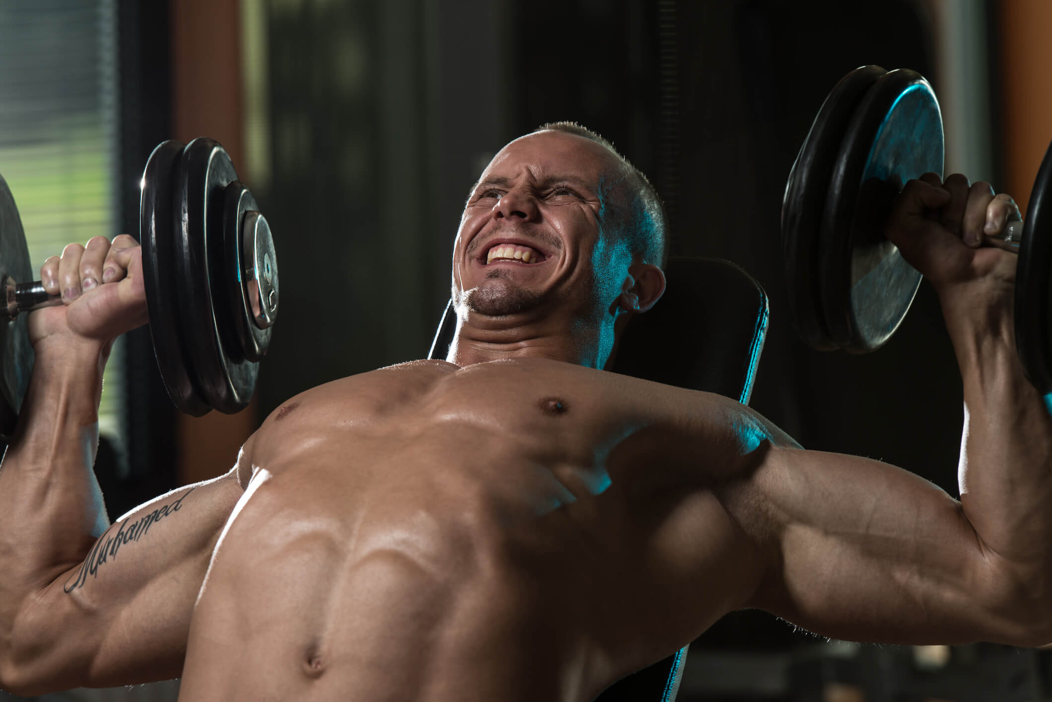 Chest with dumbels