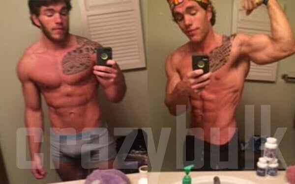 Before and after cutting results with Crazy Bulk cutting stack