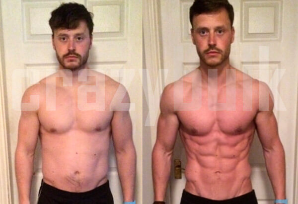 John Before After Cutting Cycle using Crazy Bulk cutting stack