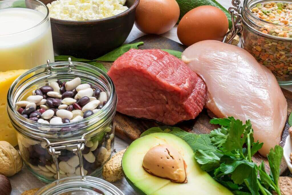 protein packed foods on table
