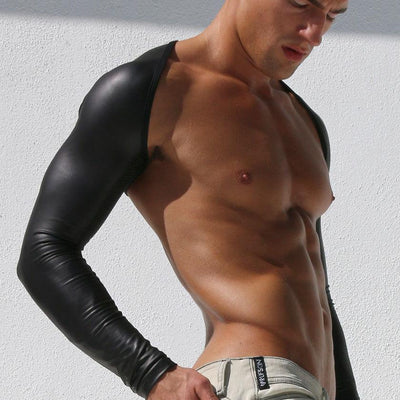 FAUX LEATHER UPPER BACK HARNESS Chest Size:  M:    36 L:     38 XL:   40 2XL: 41 3XL: 43 4XL: 44 5XL: 48 - Mr JOCKS - Shop Now