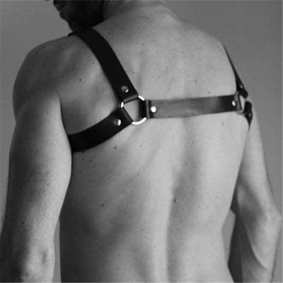 Double Stripe Leather Harness - Mr JOCKS - Shop Now