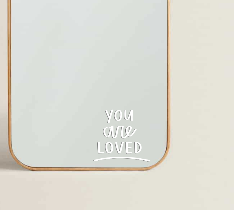 You Are Loved Transfer Sticker