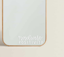 Load image into Gallery viewer, Radiate Positivity Transfer Sticker