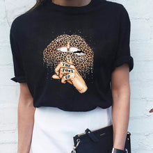 Load image into Gallery viewer, Women's Leopard Lips T-Shirt