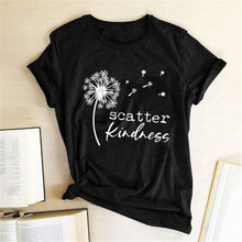 Load image into Gallery viewer, Gorgeous 'Dandelion Scatter Kindness'  T-shirts for Summer