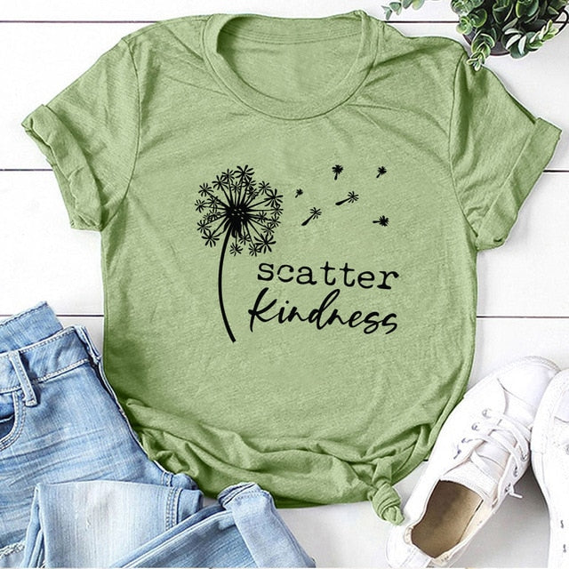 Gorgeous 'Dandelion Scatter Kindness'  T-shirts for Summer