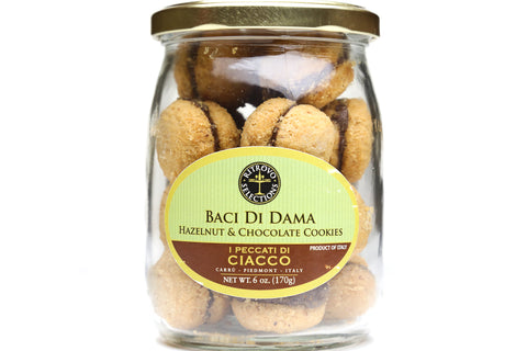 COOKIES, BACI DI DAMA, HAZELNUT AND GIANDUIA COOKIES, 170 g/6 oz