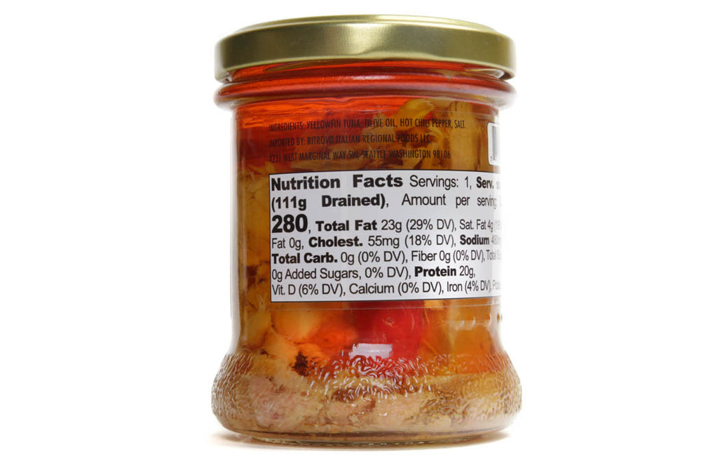 LUNCH IDEAS, TUNA CHUNKS WITH HOT CHILI PEPPER - 170 g/6 oz