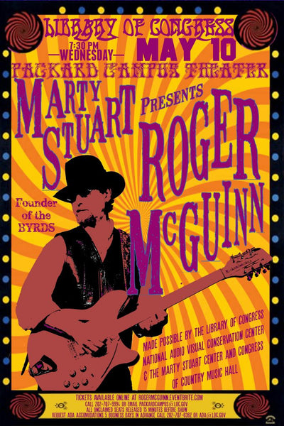 MARTY STUART HOSTS ROGER MCGUINN OF THE BYRDS AT THE LIBRARY OF CONGRESS