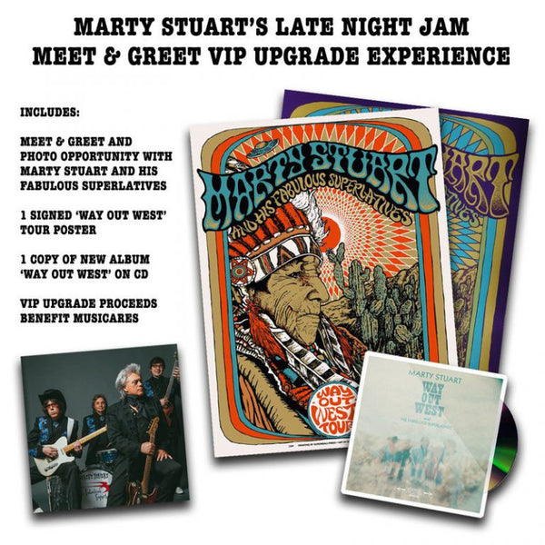 LATE NIGHT JAM MEET & GREET VIP UPGRADE EXPERIENCE BENEFITING MUSICARES