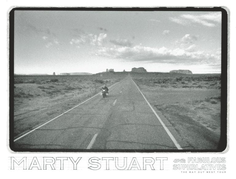 MARTY STUART LIMITED EDITION POSTER, 2018 TOUR KICKS OFF TODAY