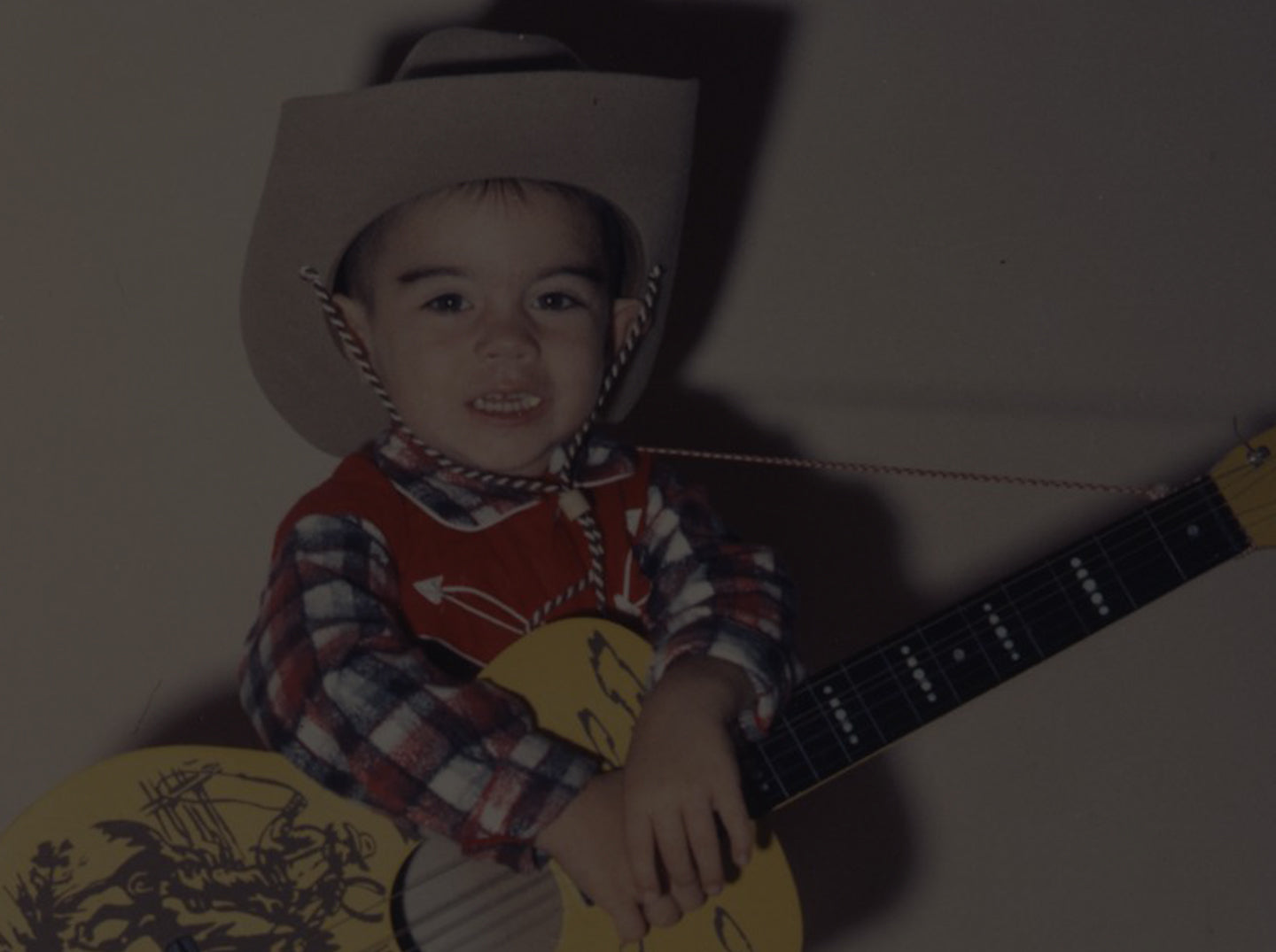 Marty get's his first cowboy guitar;