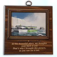 Wall Plaque With Interchangeable Picture