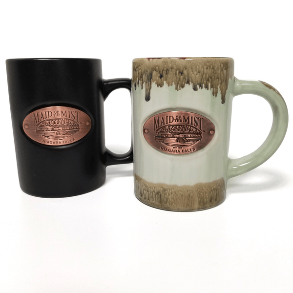 Ceramic Copper Medallion Mug