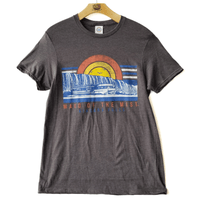 Niagara Vintage Sun Adult Short Heather Charcoal Sleeve T-Shirt