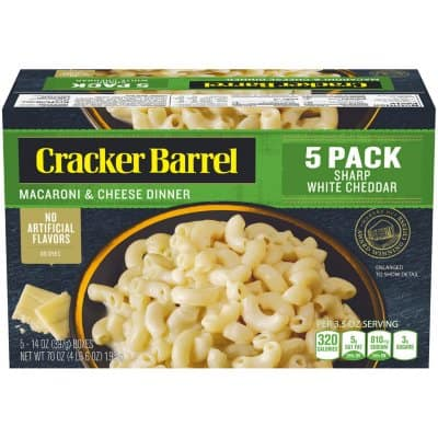 Cracker Barrel Macaroni & Cheese Boxes - White Cheddar (5 PK - 14 OZ)