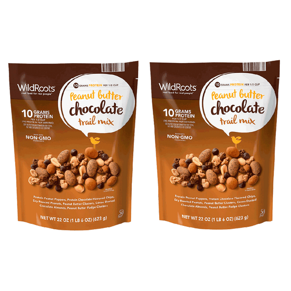 2 Pack of WildRoots Peanut Butter Chocolate Trail Mix