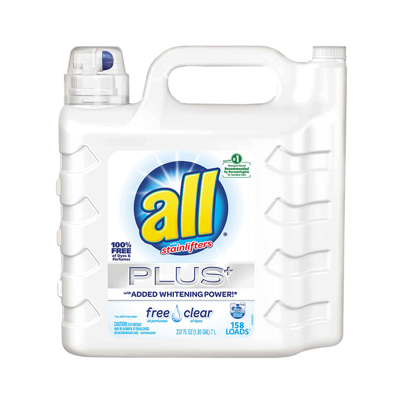 All Free & Clear Stainlifters Plus HE Liquid Laundry Detergent (237 OZ)