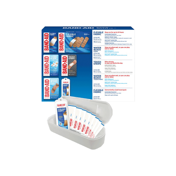 Band-Aid Adhesive Bandages w/ Case (188 ct)