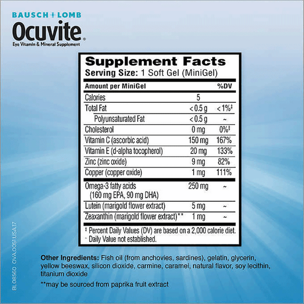 Bausch & Lomb Ocuvite Adult 50+ Eye Vitamin & Mineral Supplement (150 ct)