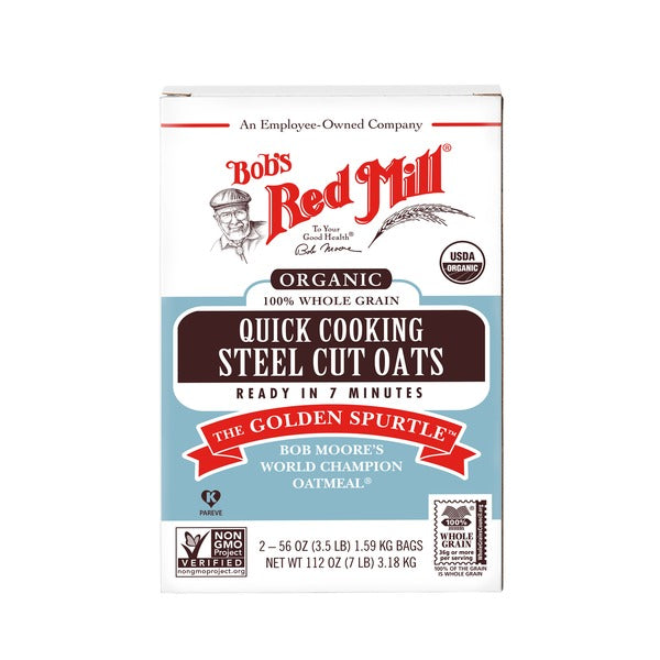 Bob S Red Mill Organic Quick Cooking Steel Cut Oats 7 Lbs Thirstyrun Com