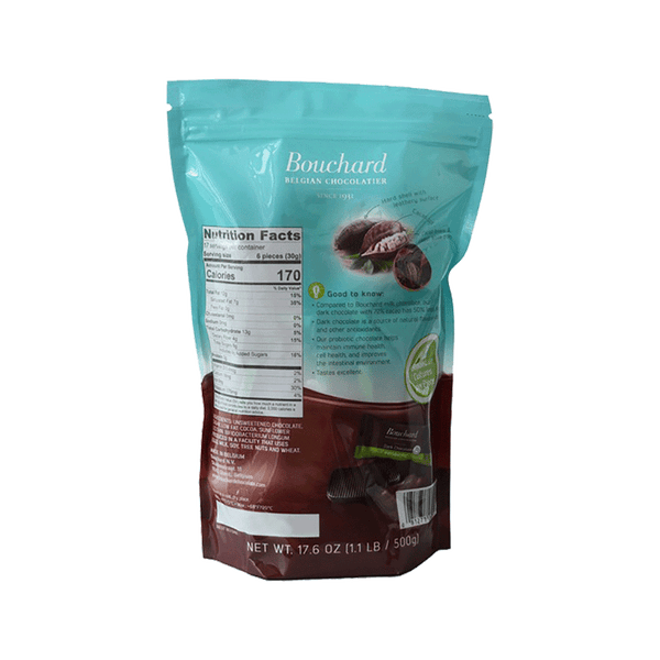 Bouchard Probiotic Belgian Dark Chocolate (17.6 OZ)