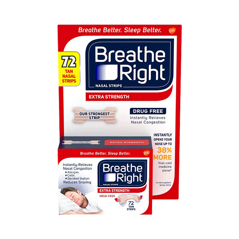 Breathe Right Extra Strength Nasal Strips - Tan (72 ct.)
