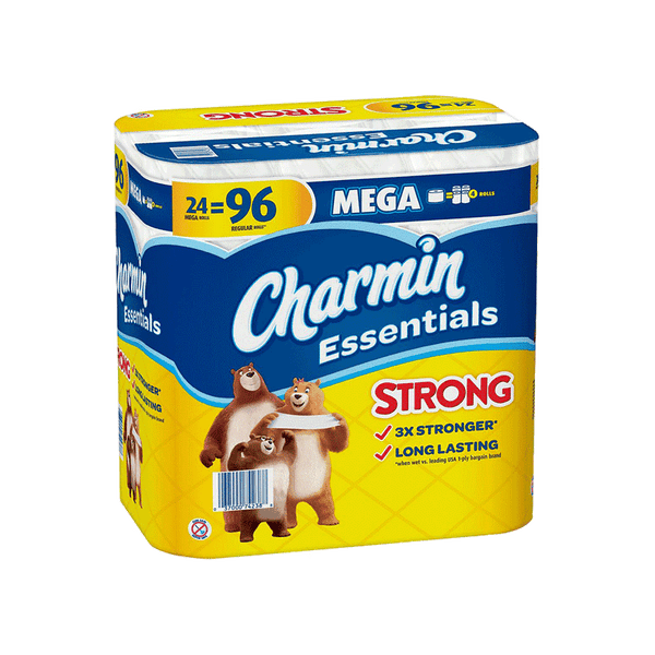 Charmin Essentials Strong 1-Ply Toilet Paper (24 Rolls - 451 Sheet)
