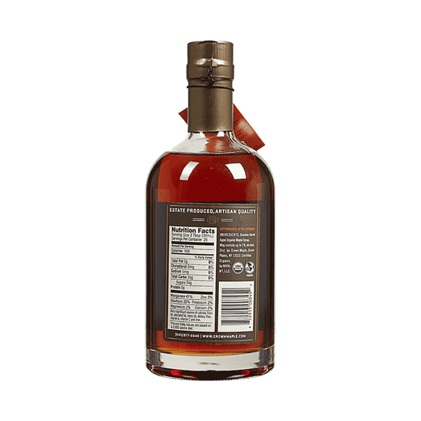 Crown Maple Organic Bourbon-Barrel Syrup (25 OZ)