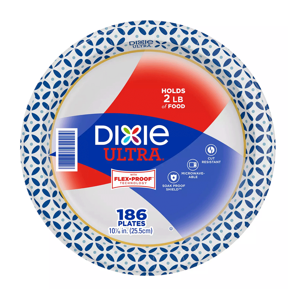 "Dixie Ultra Paper Plates - Heavyweight (186 ct. - 10"")"