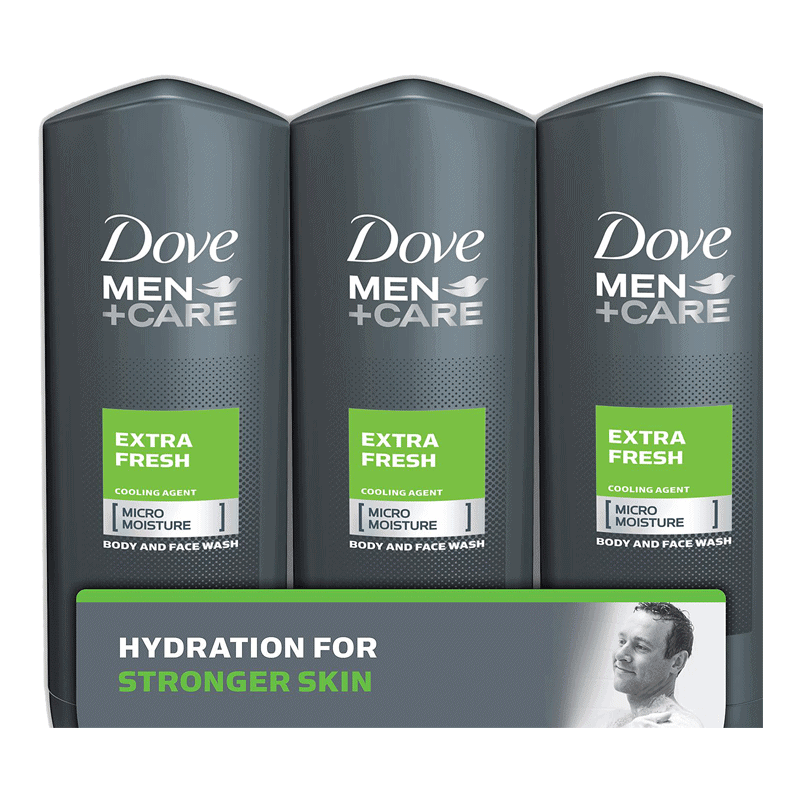 Dove Men+Care Body and Face Wash - Extra Fresh (3 PK - 18 OZ)