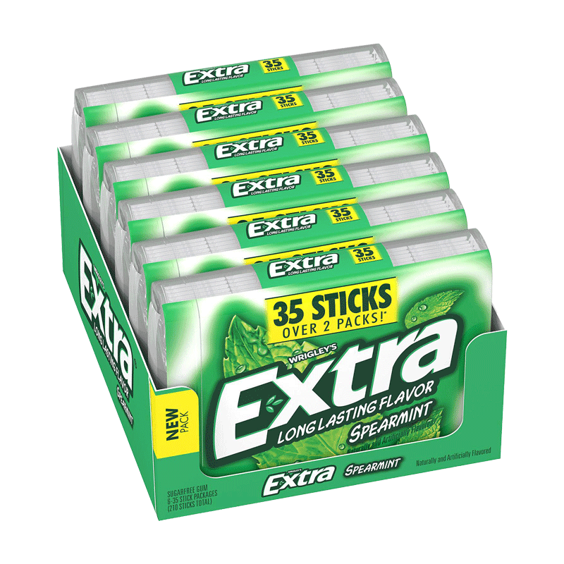 Extra Spearmint Sugar-Free Gum (35 ct. - 6 PK)