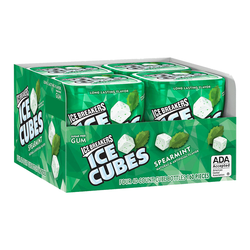 Ice Breakers Ice Cubes Sugar Free Gum - Spearmint (40 ct. - 4 PK)