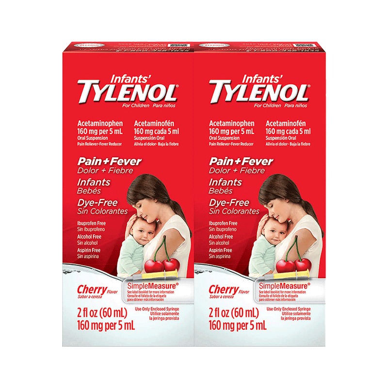 Infants' Tylenol Pain & Fever Cherry Flavor (2 PK - 4 OZ)
