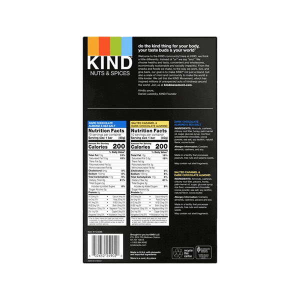 Kind Variety Pack - Nuts & Spices Bar (20 ct. - 1.4 OZ)