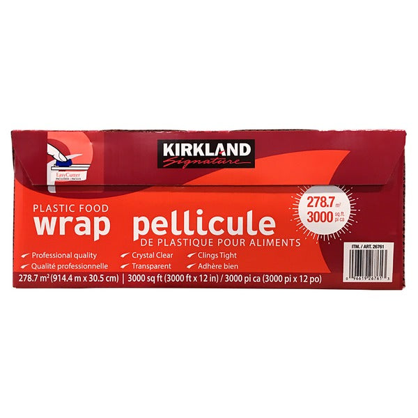Kirkland Signature Stretch-Tite Plastic Food Wrap (12 in x 3,000 ft)