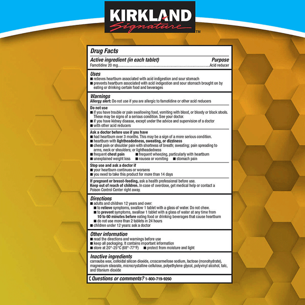 Kirkland Signature Acid Controller Tablets (250 ct - 20 mg)