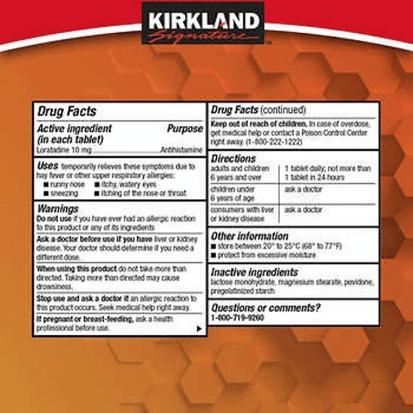 Kirkland Signature AllerClear Tablets (365 ct - 10 mg)