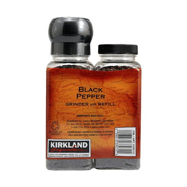 Kirkland Signature Black Pepper Grinder (2 PK - 6.3 OZ)