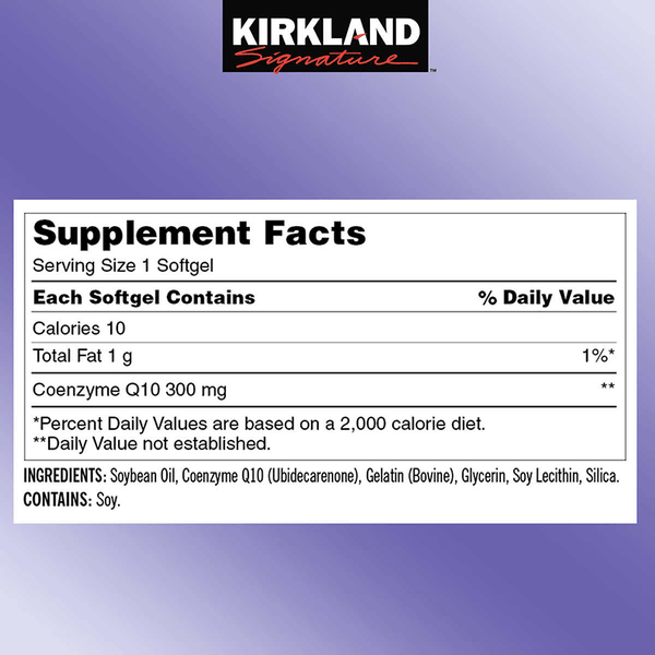 Kirkland Signature CoQ10 Softgels (100 ct. - 300 mg)