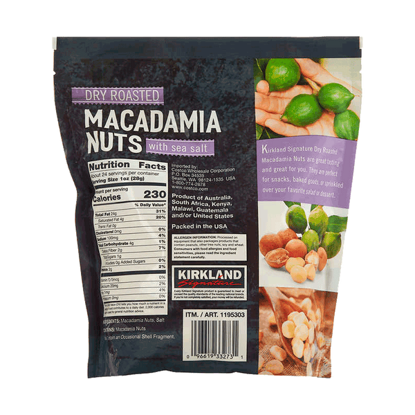 Kirkland Signature Dry Roasted Macadamia Nuts (24 OZ)
