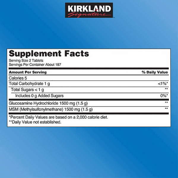 Kirkland Signature Glucosamine With MSM (375 ct.)