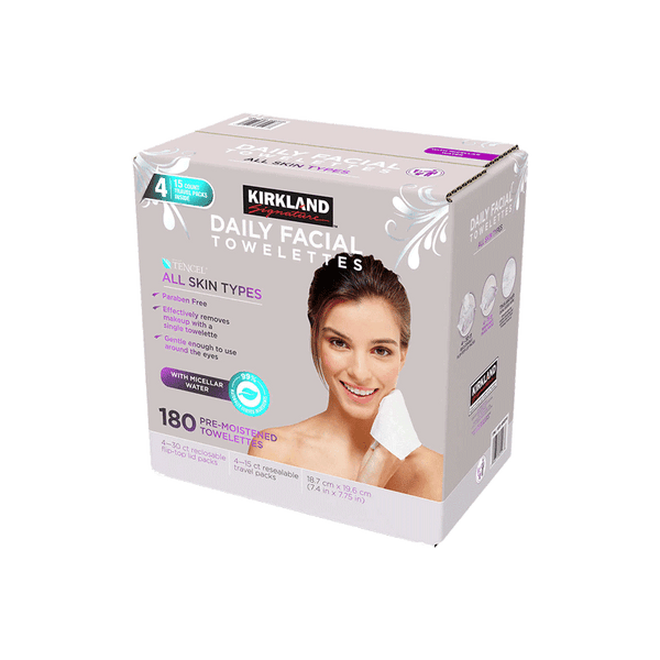Kirkland Signature Micellar Daily Facial Cleansing Towelettes (180 ct.)