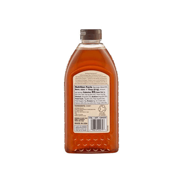 Kirkland Signature Michigan Raw Unfiltered Honey (3 lbs)